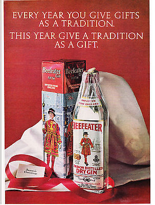 Original Print Ad-1972 BEEFEATER GIN-Gifts as a Tradition/A Tradition as a Gift
