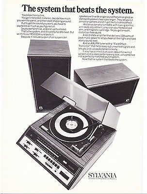 Original Print Ad-1971 SYLVANIA MS220W-The system that beats the system-Speakers