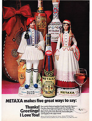 Original Print Ad-1971 METAXA-5 Great Ways to Say Thanks! Greetings! I Love You!