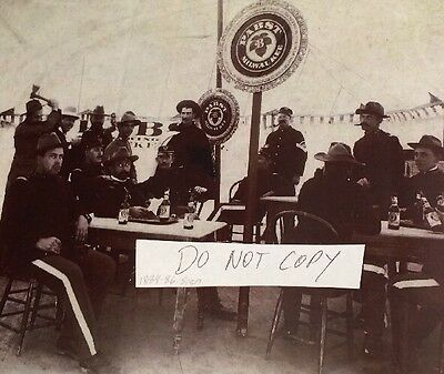 Pabst beer photo Spanish American War Signs + soldiers REPRINT FROM AN 1890'S