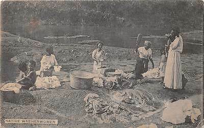 PANAMA, NATIVE WOMEN WASHING CLOTHES, C.L. CHESTER PUB, used c. 1904-14