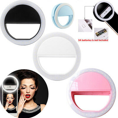 Selfie Portable LED Ring Fill Light Camera Photography For iPhone 7/Plus Android