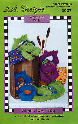 WHEAT BAG FROG Pattern by LA Designs Soothing Heat Therapy/Cold Compress 3027