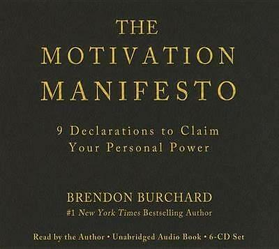 NEW The Motivation Manifesto By Brendon Burchard Audio CD Free Shipping