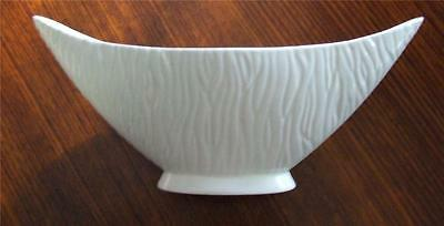 English Crown Devon  Matt White Textured Pottery Art Deco Vase No. 1225