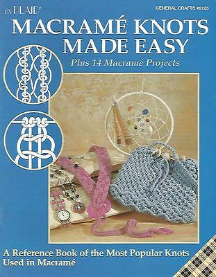Macrame Knots Made Easy Beginners Instruction Pattern Book Plaid #9123 1995 USED