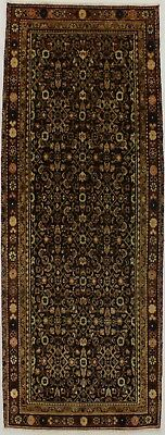 Awesome Runner Semi Antique Hossainabad Persian Oriental Area Rug Carpet 3'5X9'3