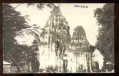 THAILAND ~ OVERGROWN TEMPLE RUINS, REAL PHOTO PC ~ c 1910-1920's