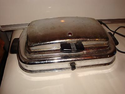 Vintage WESTINGHOUSE Stainless Steel Waffle Iron STC-54