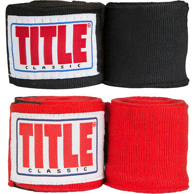 "Title Boxing 120"" Classic Elite Semi-Elastic Stretch Mexican Style Handwraps"