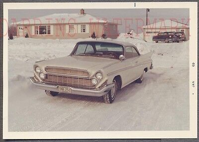 Vintage Car Photo RARE 1961 DeSoto Automobile in Winter Snow 742139