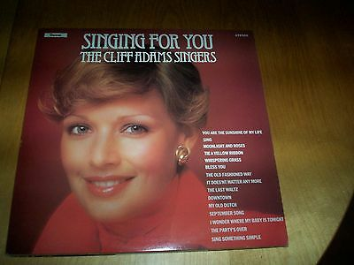 LP vinyl record the cliff adam singers singing for you NEW