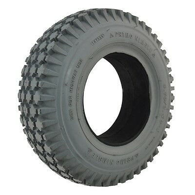 # Set Of 2 # New Mobility Scooter Tyres Grey 410/3.50-6  Block Tread