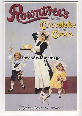 ad0388 - Rowntrees Chocolate & Cocoa - Maid & Children - Modern Advert Postcard