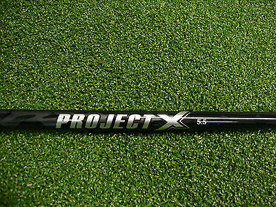 NEW Project X Black 5.5 Firm Driver Shaft/Adapter Taylor Made SLDR/Jetspeed