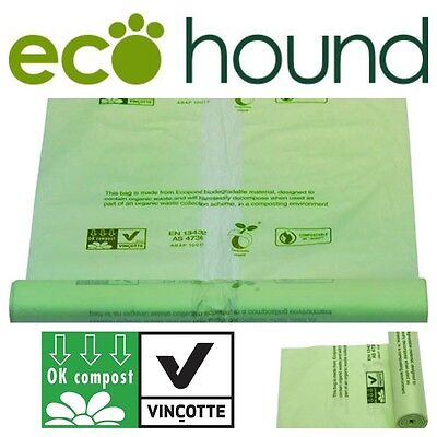 FULLY Compostable And Biodegradable Bin Garden Waste Liners 80 Litre