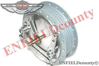Twin Leading Shoe Royal Enfield Bullet 7'' Front Brake Drum Hub Assembly @cad