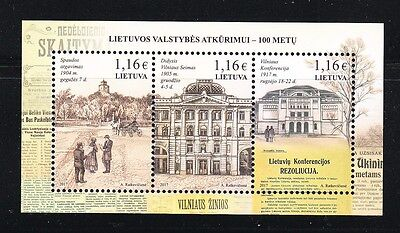 Lithuania 2017 MNH Great Assembly of Vilnius.National Revival centenary