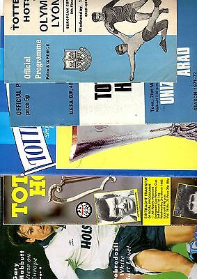 5 x TOTTENHAM HOTSPUR EUROPEAN CUP WINNERS CUP COMPETITION 1967 - 1991 Listed 1