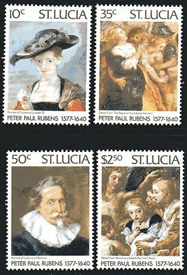ST.LUCIA Mi.427/30 - P.P. RUBENS PAINTINGS - 1977 - **MNH