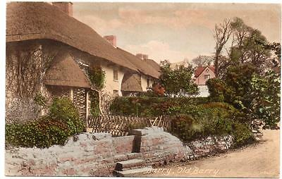 Early BARRY  Old Cottages Cardiff Glamorgan    Postcard