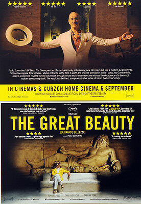 2 X The Great Beauty Film Postcards - Paolo Sorrentino