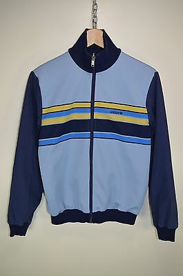 vtg 80s ADIDAS CASUALS REVERSIBLE TRACKSUIT TOP TRACK JACKET TT size SMALL