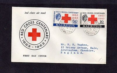 Mauritius.1963.red Cross.illustrated First Day Cover.'mahebourg' First Day D/s.