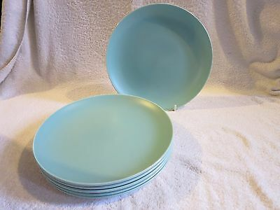 Poole Pottery TwinTone Ice Green 6 x 10 INCH DINNER  PLATES VINTAGE