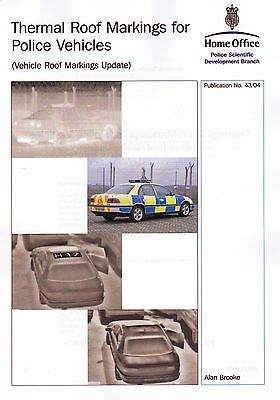Thermal Roof Markings for Police Vehicles