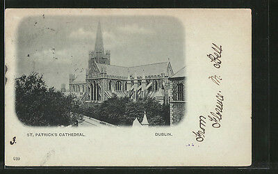 tolle AK Dublin, St. Patrick´s Cathedral 1901
