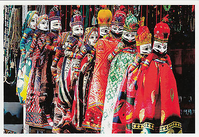 (96858) Postcard India Puppets