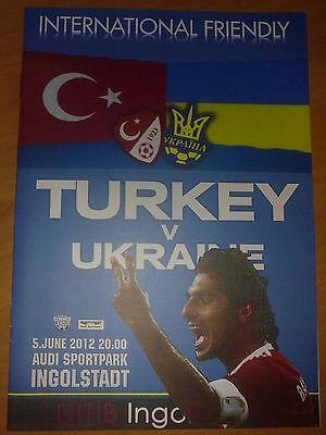 Programme Turkey - Ukraine 2012 friendly in Austria