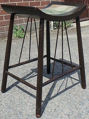 Arts & Crafts antique Liberty Thebes style ebonised dressing table foot stool