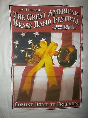 GREAT AMERICAN BRASS BAND FESTIVAL CONCERT T SHIRT Old Glory Flag Trumpet XL