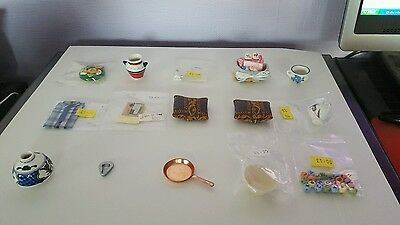 1:12 Scale Dolls House Accessories - Job Lot Bundle 4 - 15 Items