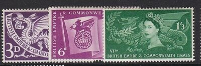 Gb Great Britain 1958 Commonwealth Games Set Never Hinged Mint