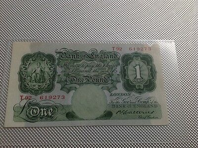Bank Of England £1 Banknote Catterns 1930 - 34