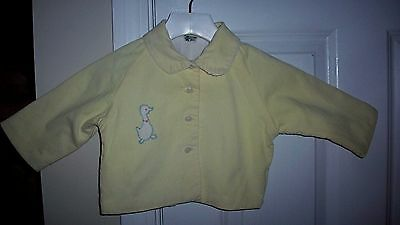 Vintage Girl's COAT - Soft Yellow Fine Corduroy with Baby Ducky Applique