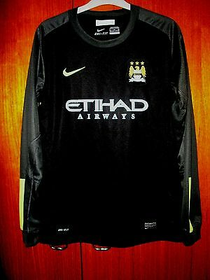 Manchester City Football Shirt Nike Goal Keeper Jersey size Age 13/14 158-170cm