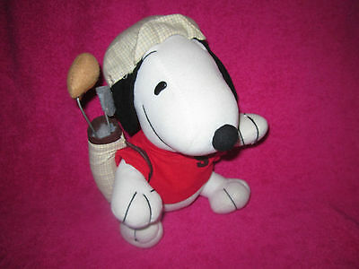 Snoopy Golfer Soft Toy 9 Inches