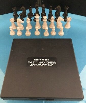 Radio Shack Tandy 1650 Chess Fast Time Response Electronic Missing One Pawn