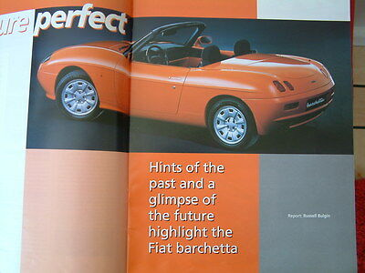 FIAT BARCHETTA  FOLD-OUT BROCHURE from 1999.