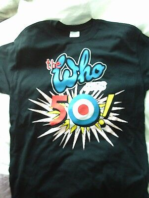 The Who Hits 50 New Cotton T Shirt Medium 2014 Official Tour Merchandise