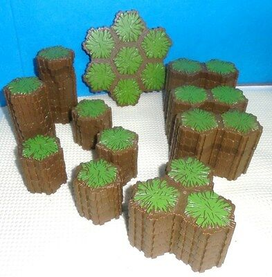 Heroscape .. 108 Hex Grass TERRAIN ... for Battlefield