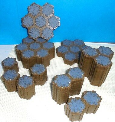Heroscape .. 124 Hex ROCK TERRAIN ... for Battlefield