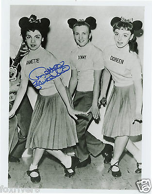 ANNETTE FUNICELLO Signed Photograph - TV Actress 'Mickey Mouse Club' - Preprint
