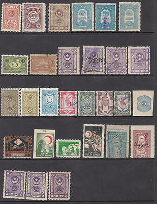 Turkey Republic Revenues hi val selection 29 diff stamps McDonald cv $108