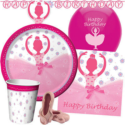 TUTU MUCH FUN Birthday Party Range Girl Ballet Tableware Balloons & Decorations