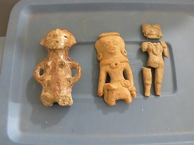 The 3 Ladies.  Polychrome South America  Pre Colombian Native Ceramic Pottery